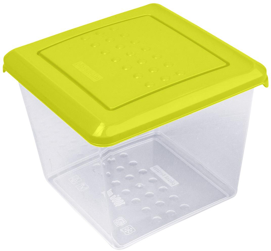 Контейнер пищевой Plast Team Pattern, цвет: лайм, 1 л контейнер пищевой plast team bico цвет лайм с крышкой 600 мл