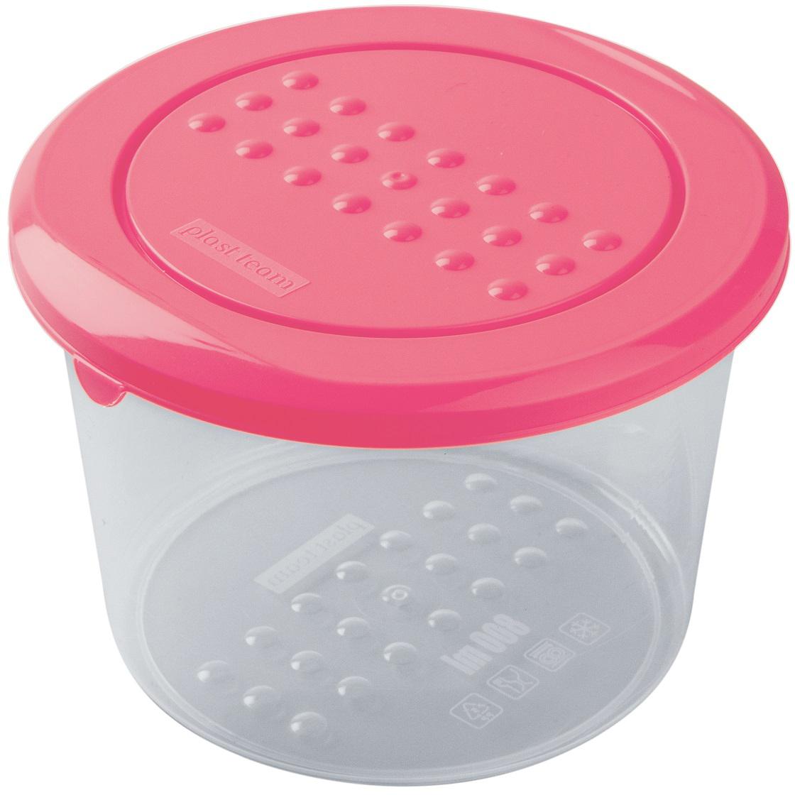 Контейнер пищевой Plast Team Pattern, цвет: коралловый, 800 млPT1099КОРАЛ-22РNЛегкая, прочная емкость предназначена для хранения продуктов, заморозки, разогревания в СВЧ, переноски обедов. Уникальный узор в виде пузырьков решает несколько задач: не скользят в руках; емкости одинаковой формы надежно устанавливаются друг на друга; приятные, тактильные ощущения от прикосновения.Использовать в СВЧ только для разогрева пищи (не более 3-х минут), при открытой крышке.