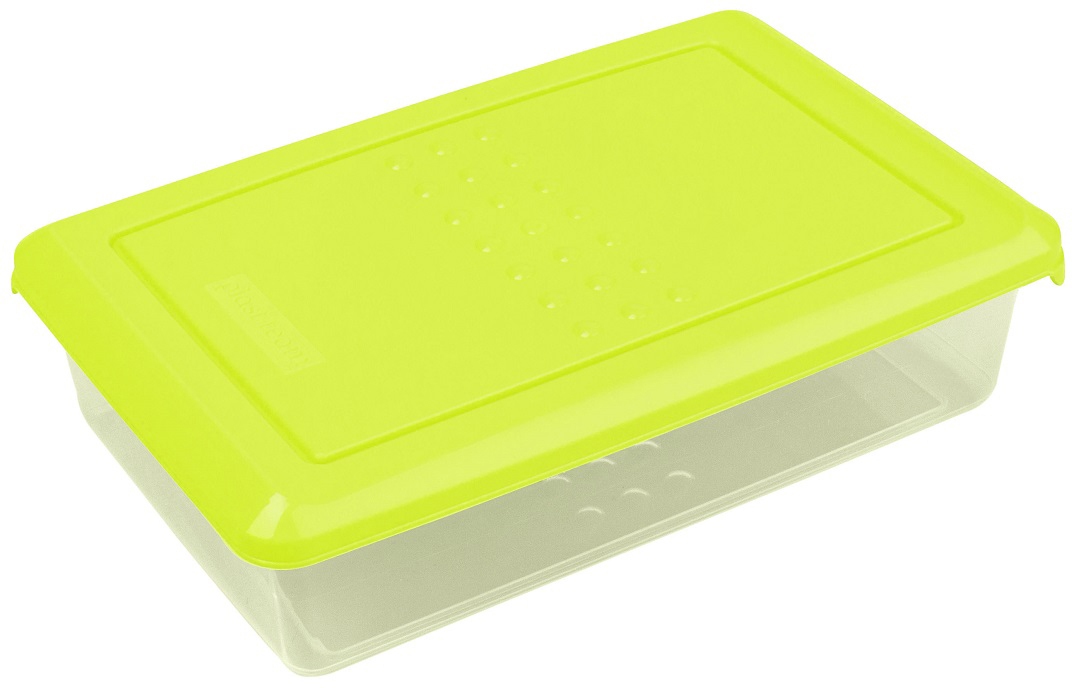 Контейнер пищевой Plast Team Pattern, цвет: лайм, 750 мл емкость для заморозки и свч curver fresh