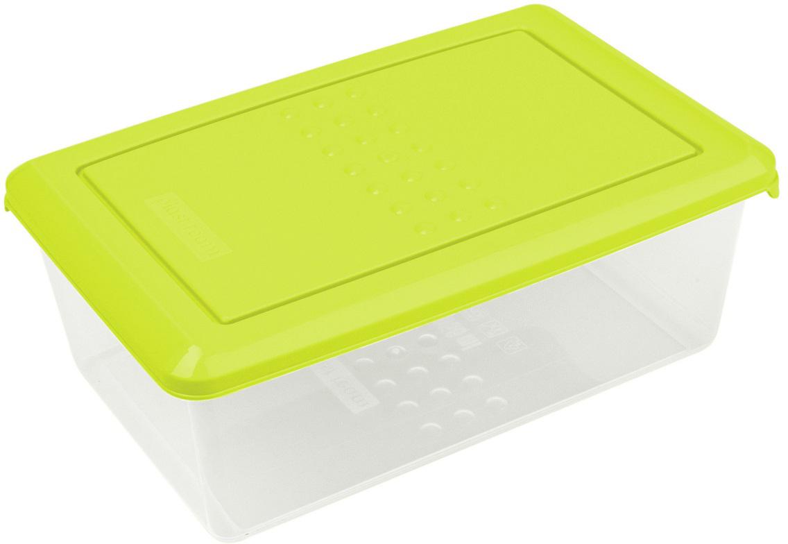 Контейнер пищевой Plast Team Pattern, цвет: лайм, 1,05 л емкость для заморозки и свч curver fresh