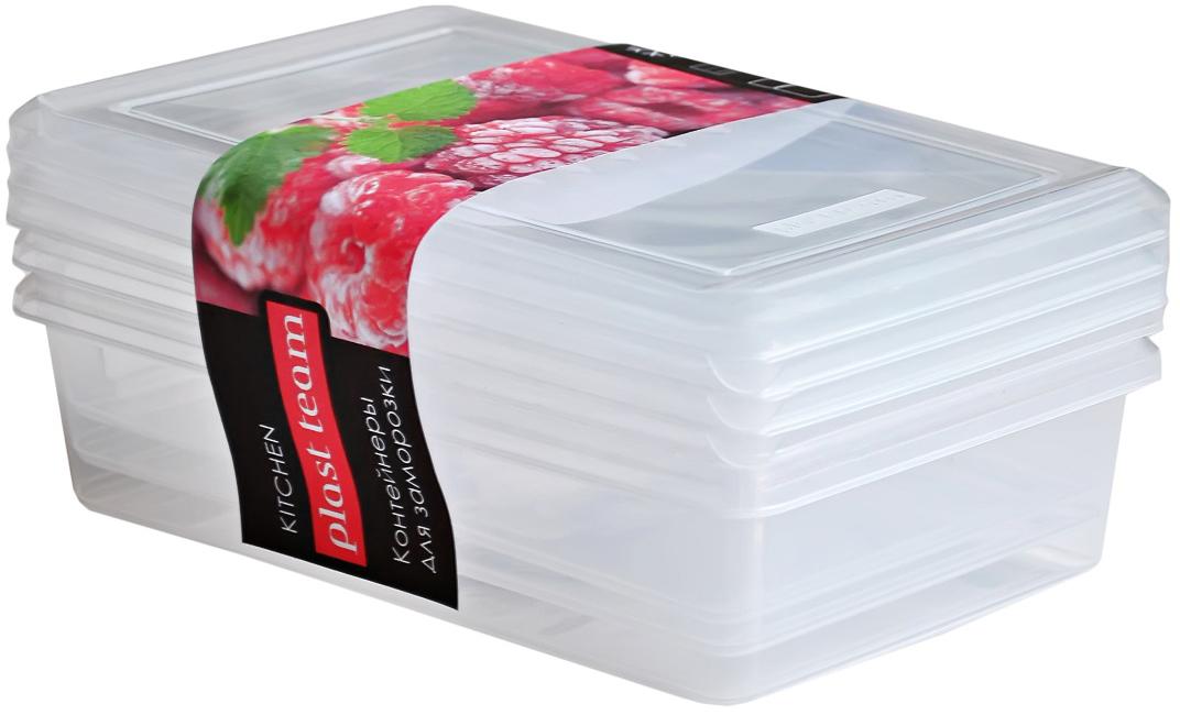 Набор емкостей Plast Team, цвет: натуральный, 0,75 л, 3 штPT2008НАТ-13Набор емкостей для заморозки отлично подходит для повседневного хранения продуктов вхолоде, особенно с сезон заготовок. Крышка плотно прилегает к контейнеру, исключаяпроникновение посторонних запахов. Емкости надежно устанавливаются друг на друга, экономяместо в морозильной камере.