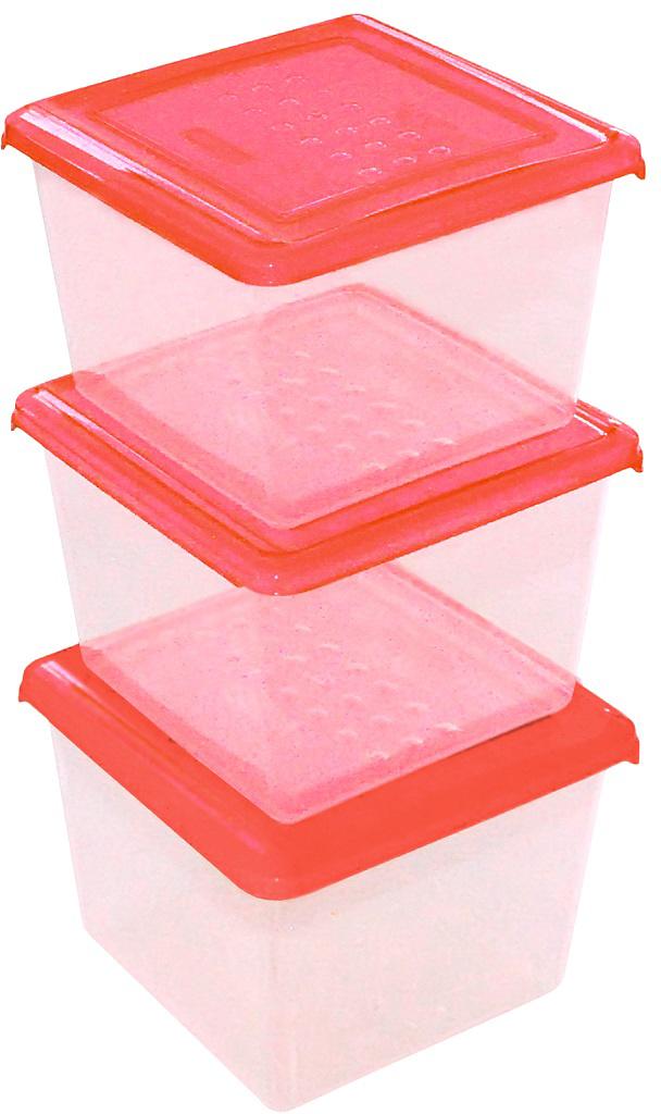 Набор емкостей Plast Team Pattern, цвет: коралловый, квадратные, 1 л, 3 штPT9855КОРАЛ-12РNЛегкие, прочные емкости предназначены для хранения продуктов, заморозки, разогревания вСВЧ, переноски обедов. Уникальный узор в виде пузырьков решает несколько задач: не скользятв руках, емкости одинаковой формы надежно устанавливаются друг на друга приятныетактильные ощущения от прикосновения. Использовать в СВЧ только для разогрева пищи (неболее 3-х минут), при открытой крышке.