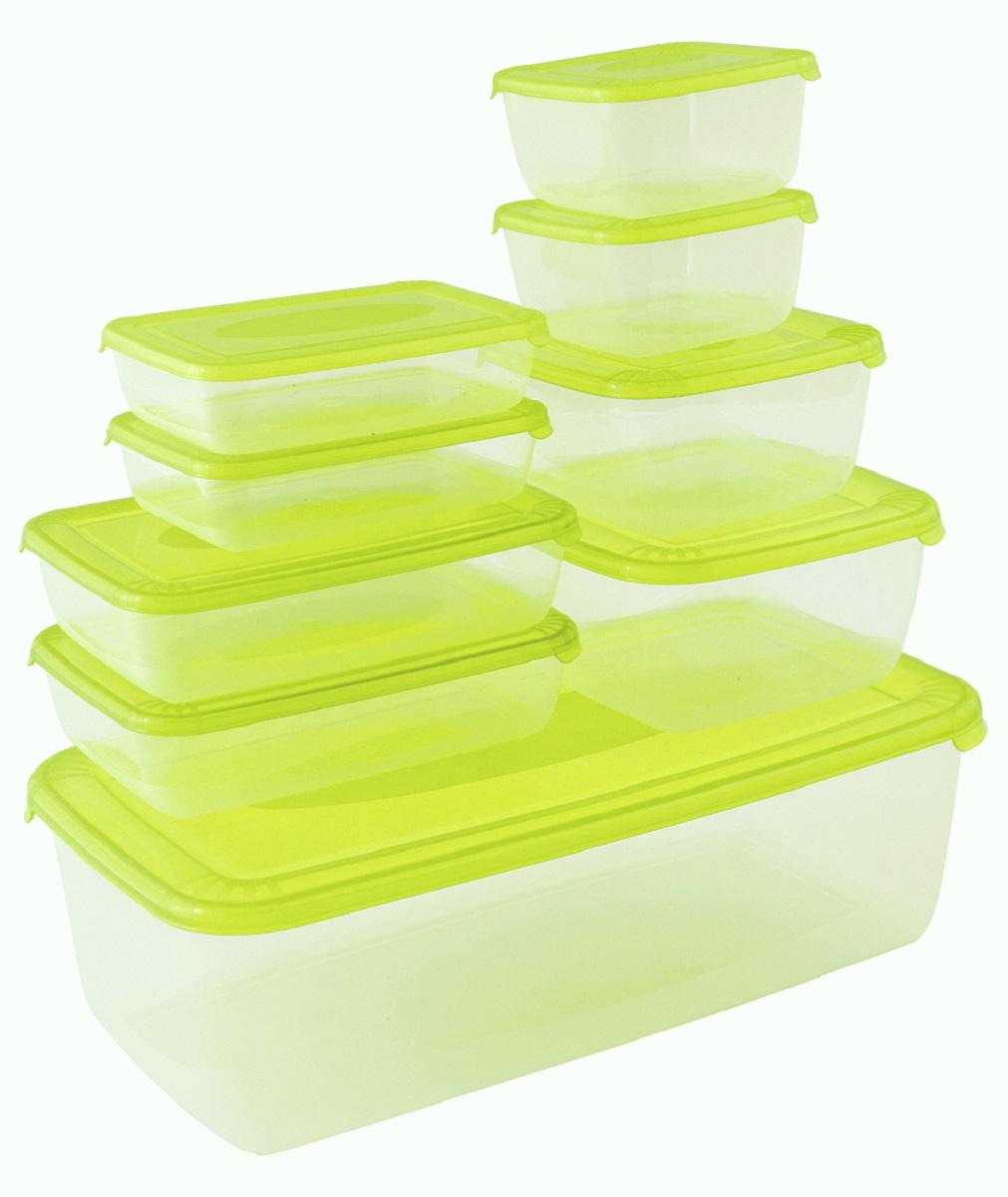 """Универсальные контейнеры предназначены для хранения продуктов в холодильнике или  морозилке, а также для разогрева в СВЧ (при открытой крышке). Для удобства открывания на  крышке есть язычок для захвата. Емкости надежно устанавливаются друг на друга, что позволит  сэкономить место на кухне. Покрытие """"шагрень"""" на верхней плоскости крышки предотвращает  скольжение и создает приятные тактильные ощущения."""