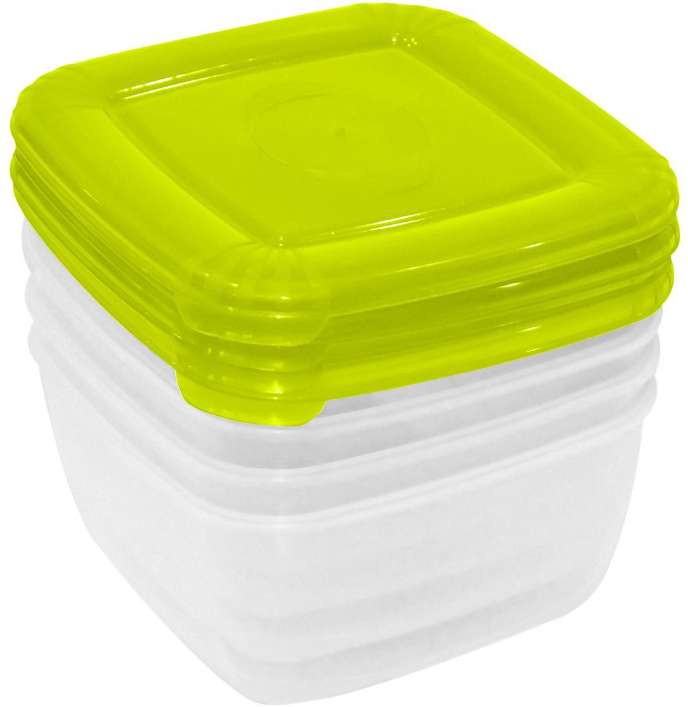 Набор емкостей Plast Team Polar, цвет: лайм, квадратные, 0,46 л, 4 шт стилус polar pp001