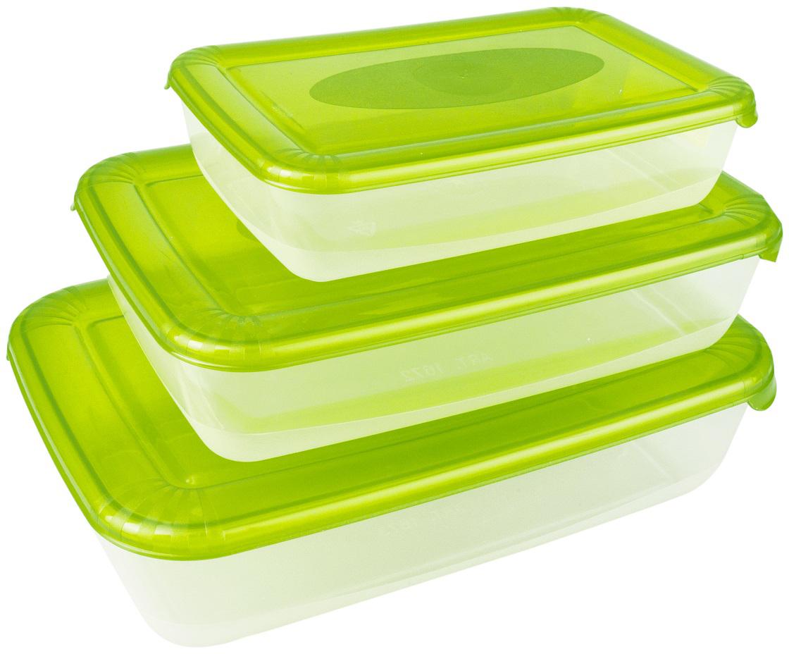Набор емкостей Plast Team Polar, цвет: лайм, прямоугольные, 3 шт стилус polar pp001