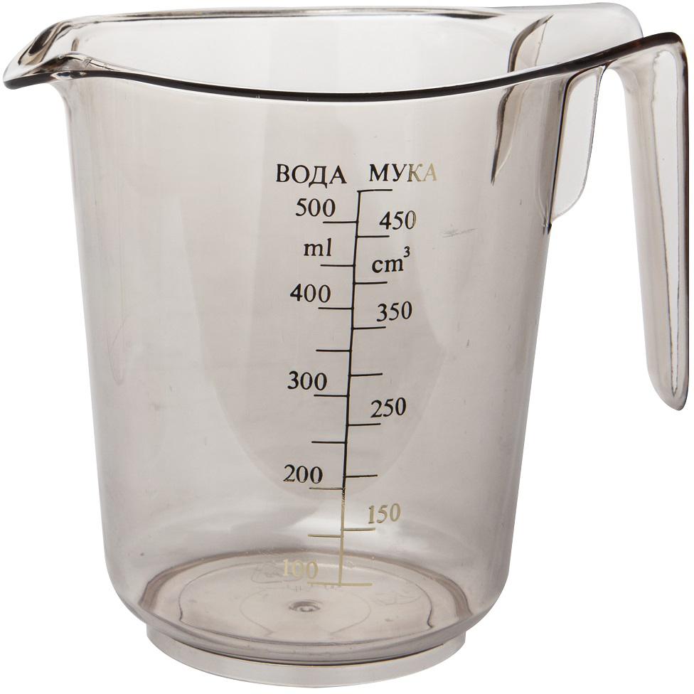 """Прозрачная мерная емкость """"Plast Team"""" выполнена из полистирола. Создает эффект посуды из стекла. Для удобства покупателей мерная шкала на емкости выполнена на русском языке.   Объем емкости: 0,5 л."""