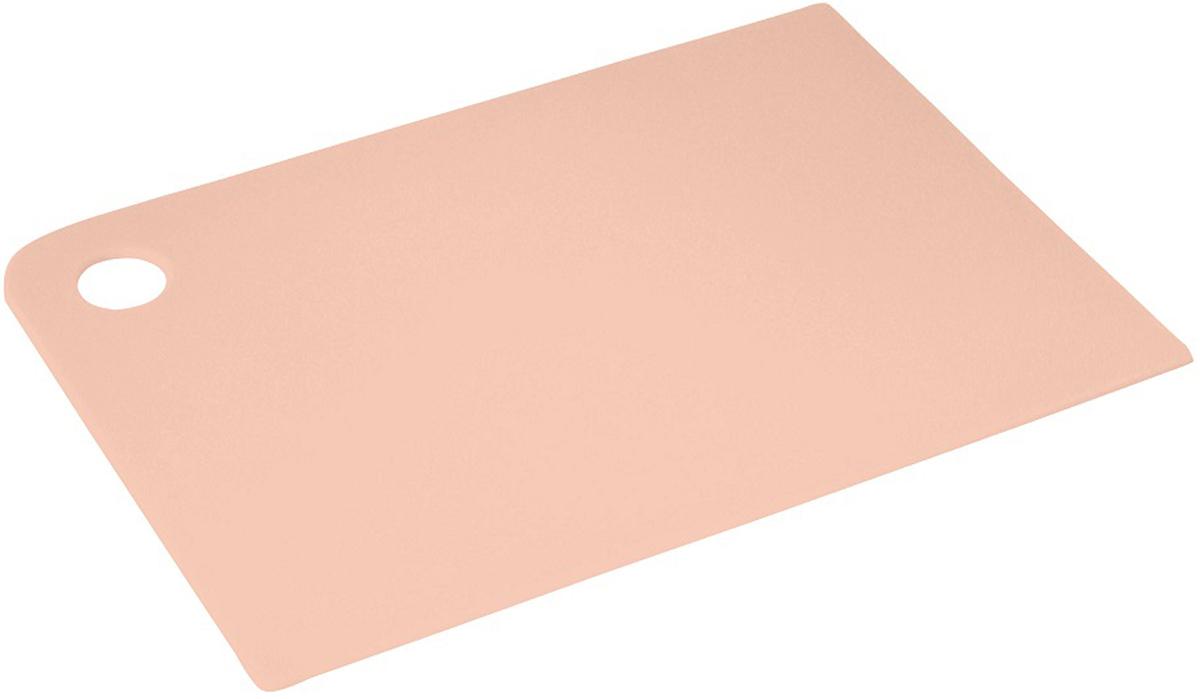 """Доска разделочная Plast Team """"Grosten"""", цвет: пудровый, прямоугольная, 34,5 х 24,5 х 0,2 см"""