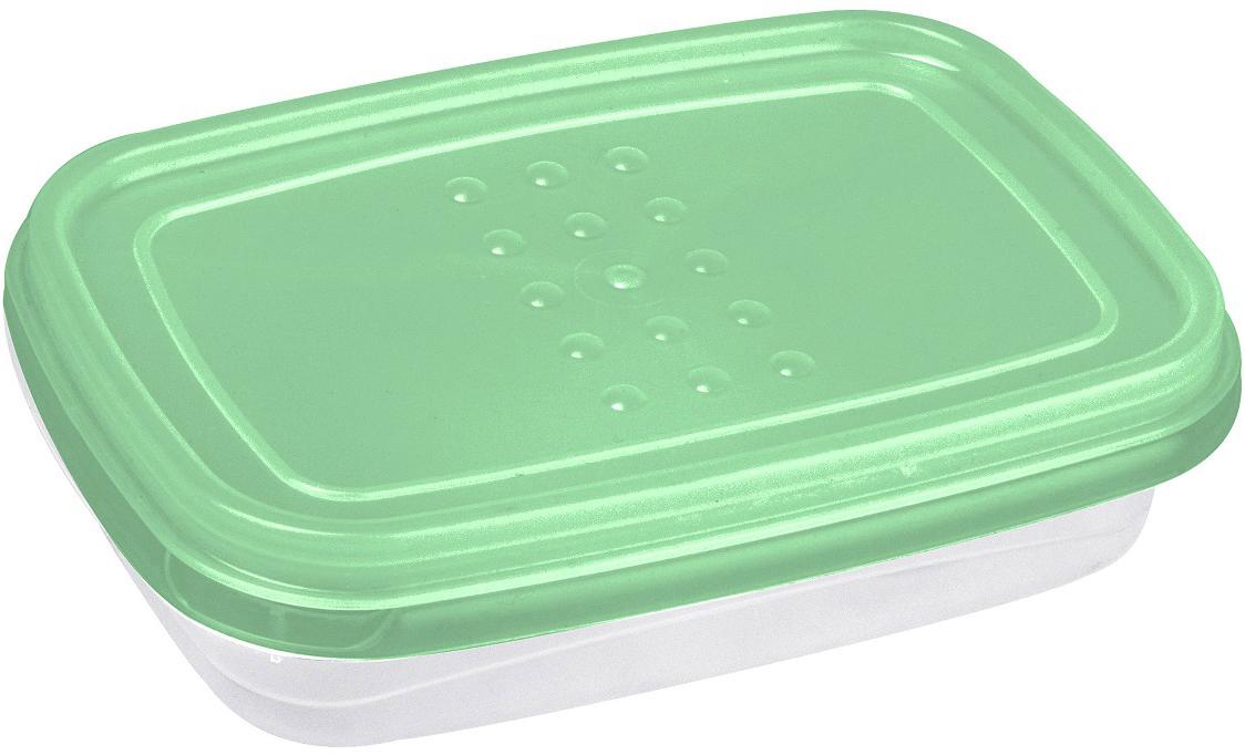 Контейнер пищевой Plast Team Pattern Flex, цвет: мятный, 300 млPT1130/КМТ-22Гибкая крышка, выполненная из полиэтилена, буквально натягивается на контейнеры, обеспечивая плотное прилегание к корпусу. Контейнеры предназначены для хранения в холодильнике и разогрева в СВЧ (без крышки).