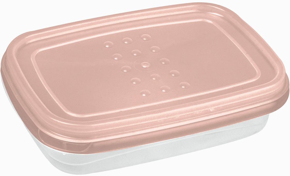 Контейнер пищевой Plast Team Pattern Flex, цвет: пудровый, 300 мл контейнер пищевой plast team bico цвет лайм с крышкой 600 мл