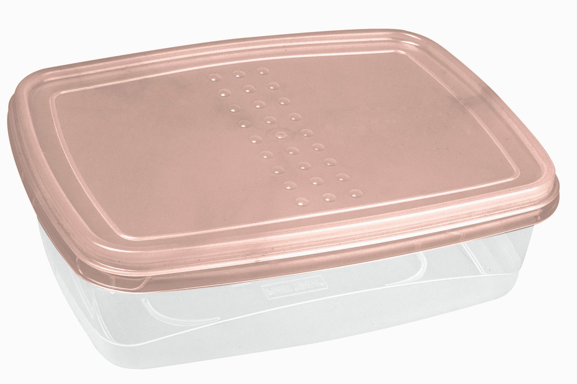 Контейнер пищевой Plast Team Pattern Flex, цвет: пудровый, 1,3 л контейнеры из полимеров migura контейнер 0 3 л