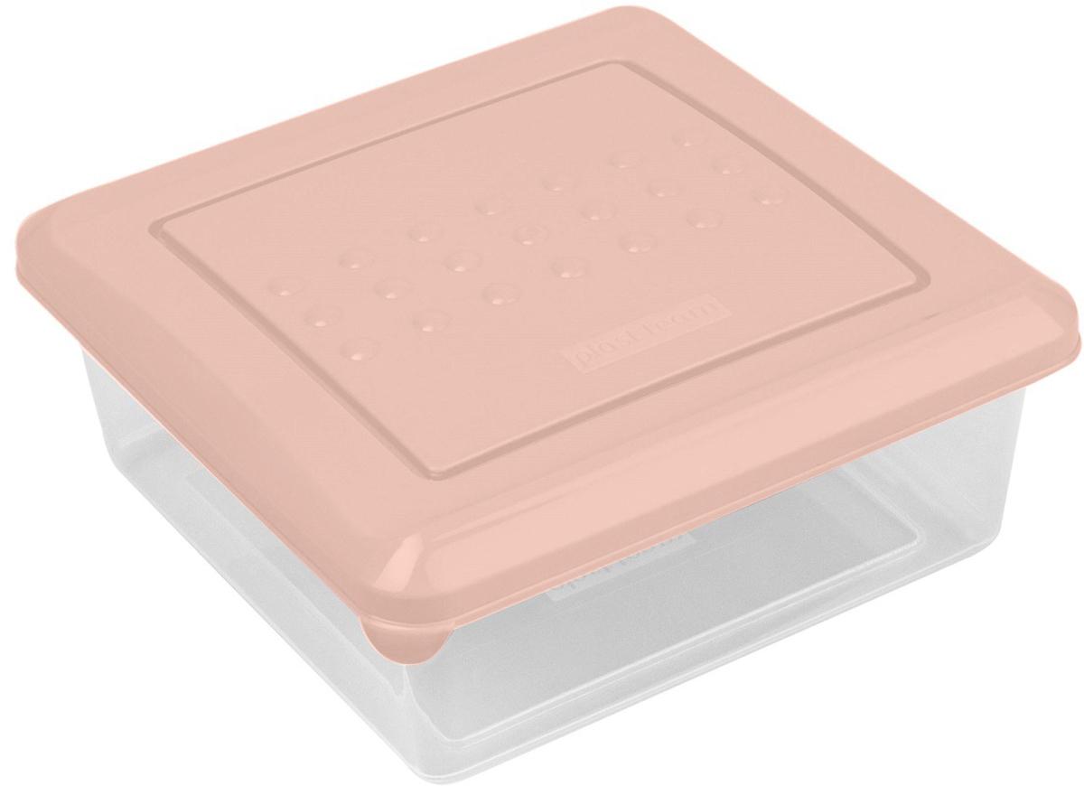 Контейнер пищевой Plast Team Pattern, цвет: пудровый, 500 мл, 12,4 х 12,4 х 5 емкость для заморозки и свч curver fresh