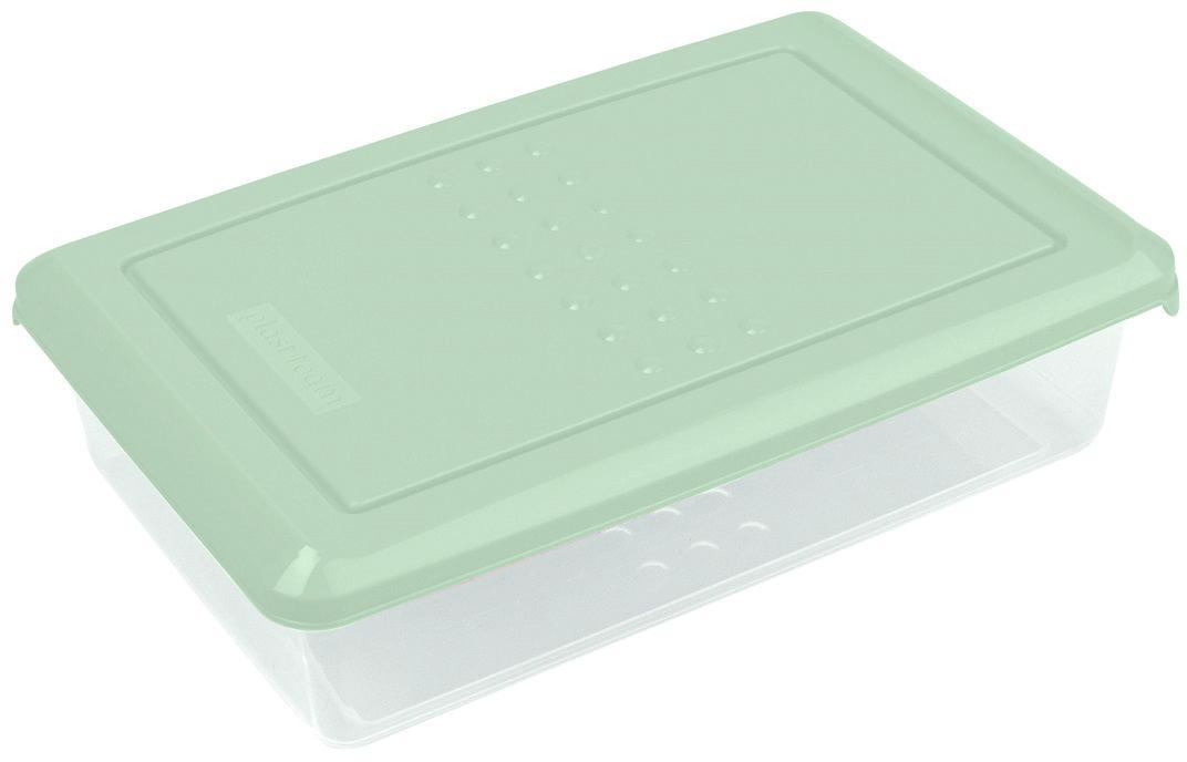 Контейнер пищевой Plast Team Pattern, цвет: мятный, 750 мл, 18,5 х 12 х 4,8 смPT1094/КМТ-20Легкая, прочная емкость предназначена для хранения продуктов, заморозки, разогревания в СВЧ, переноски обедов. Уникальный узор в виде пузырьков решает несколько задач: не скользят в руках; емкости одинаковой формы надежно устанавливаются друг на друга; приятные, тактильные ощущения от прикосновения.Использовать в СВЧ только для разогрева пищи (не более 3-х минут), при открытой крышке.