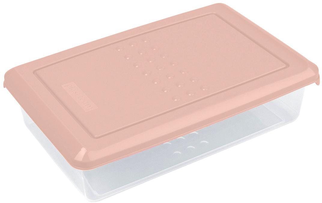 Контейнер пищевой Plast Team Pattern, цвет: пудровый, 750 мл, 18,5 х 12 х 4,8 см емкость для заморозки и свч curver fresh