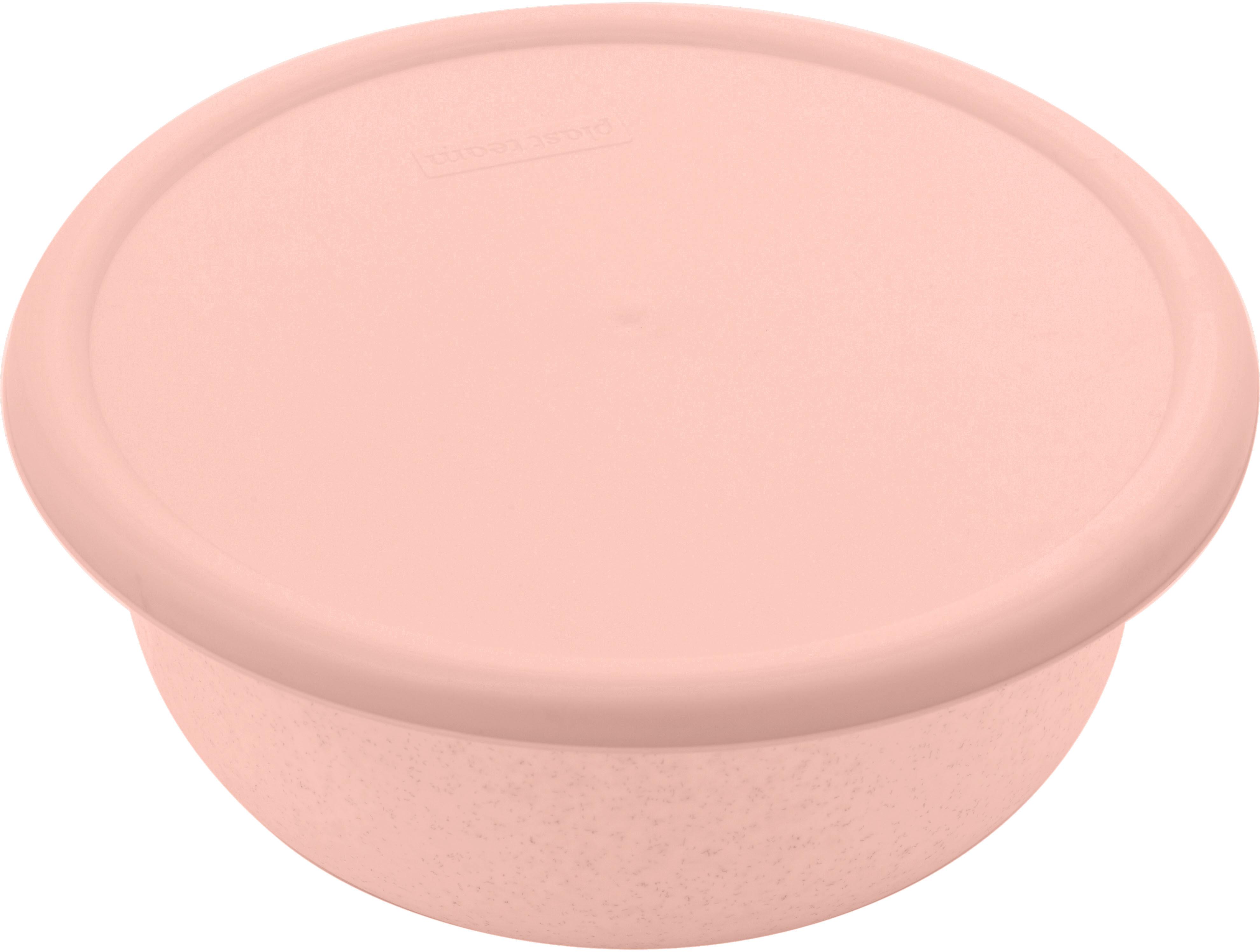 Миска Plast Team, цвет: пудровый, с крышкой, 1,2 л механизм сливной alca plast a08