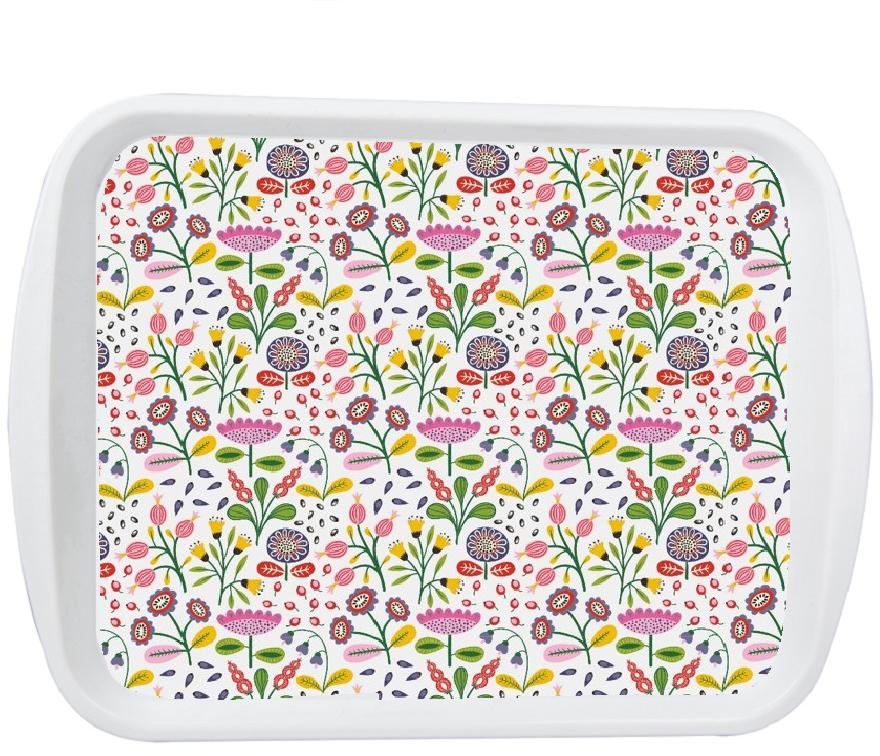 """""""Folki-Pudra"""" - стильная коллекция аксессуаров для кухни, декорированные с помощью технологии вплавляемой этикетки. Поднос можно мыть в посудомойке."""