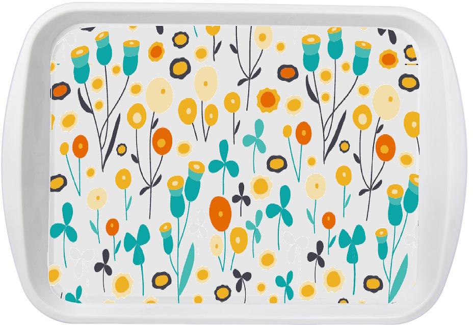"""""""Una-Miata"""" - стильная коллекция аксессуаров для кухни, декорированные с помощью технологии вплавляемой этикетки. Поднос можно мыть в посудомойке."""