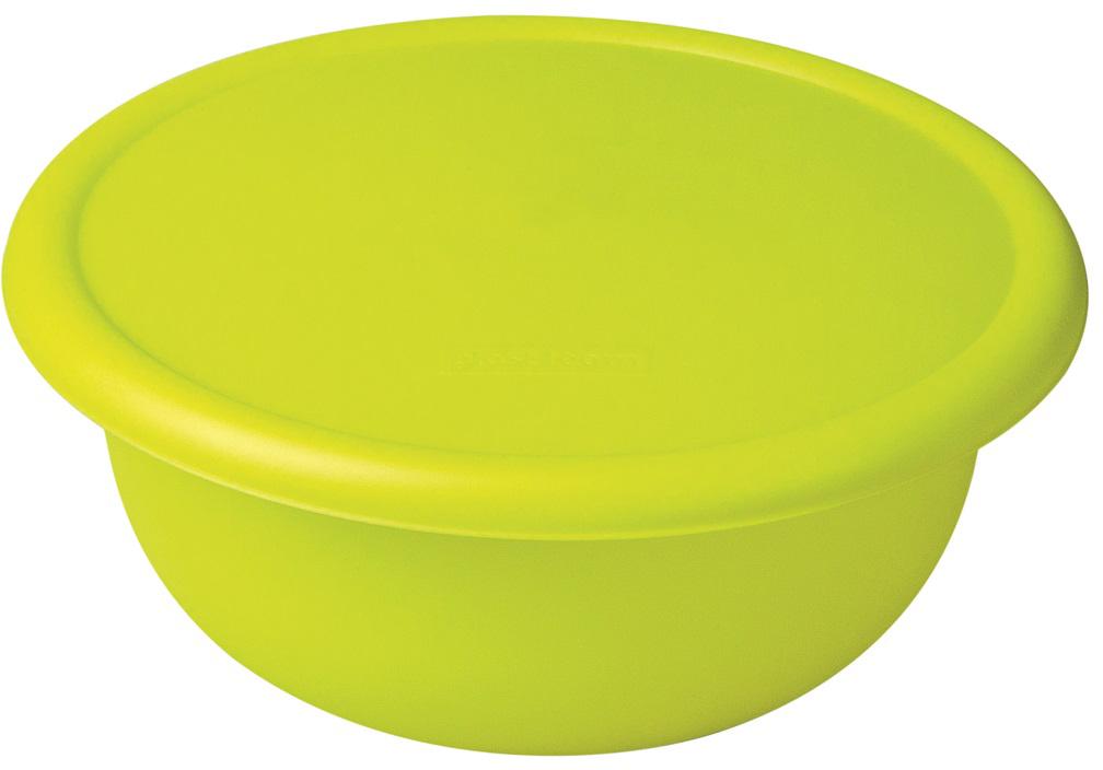 Миска Plast Team, цвет: лайм, с крышкой, 1,2 л миска plast team цвет лайм с крышкой 3 2 л