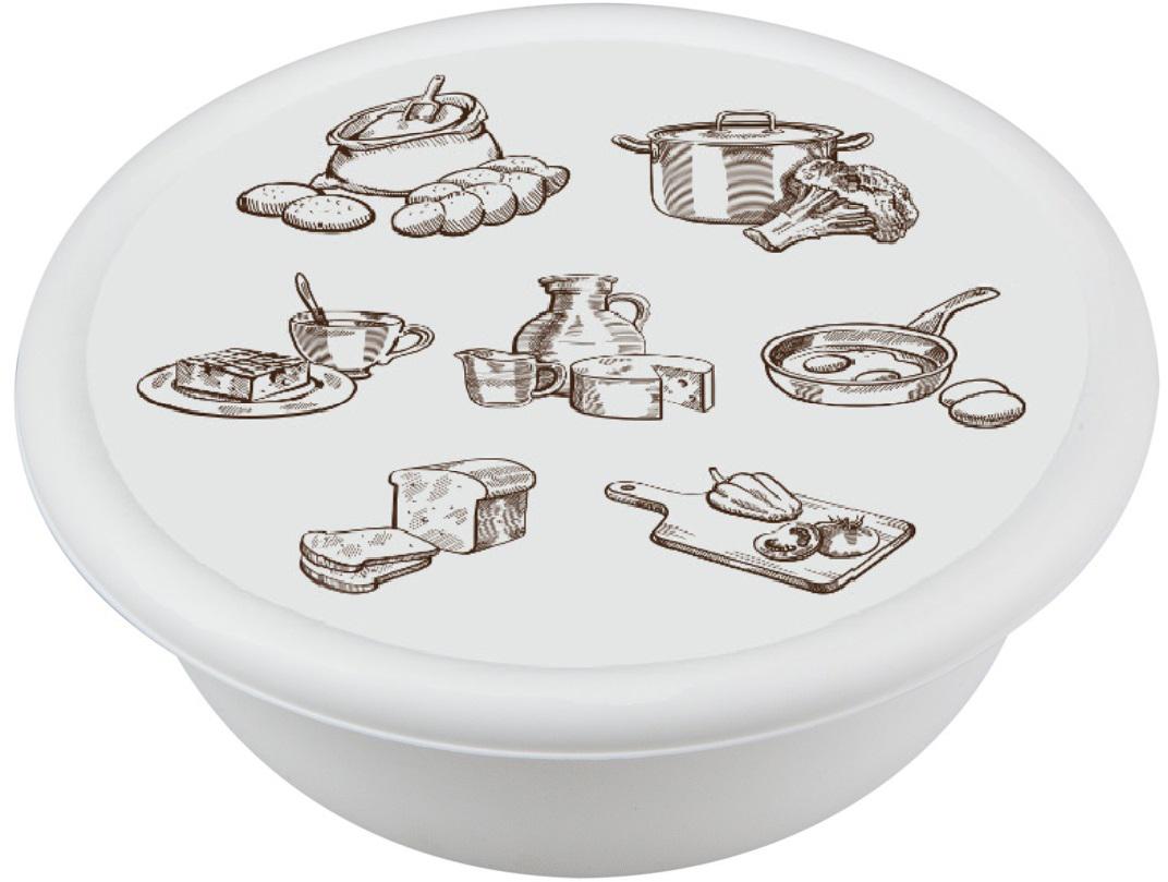Стильные коллекции аксессуаров для кухни, декорированные с помощью технологии вплавляемой  этикетки. Этикетка IML устойчива к стиранию.