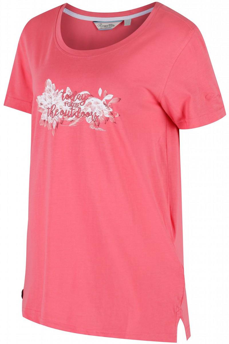 Футболка женская Regatta Filandra II, цвет: светло-коралловый. RWT144-7ZK. Размер 14 (46/48) футболка regatta футболка cline