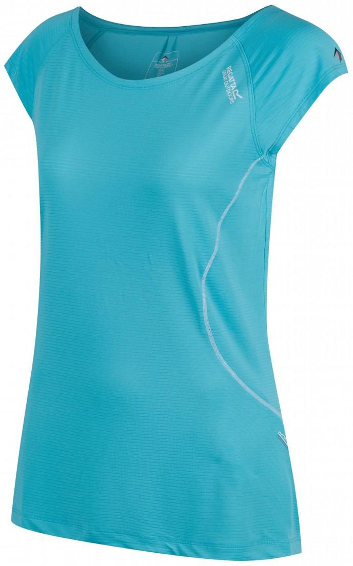 Футболка женская Regatta Limonite II, цвет: бирюзовый. RWT150-4DL. Размер 12 (44/46) футболка regatta футболка cline