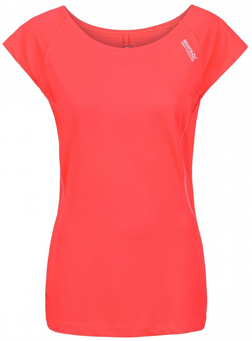 Футболка женская Regatta Limonite II, цвет: коралловый. RWT150-2CC. Размер 14 (46/48) футболка regatta футболка cline