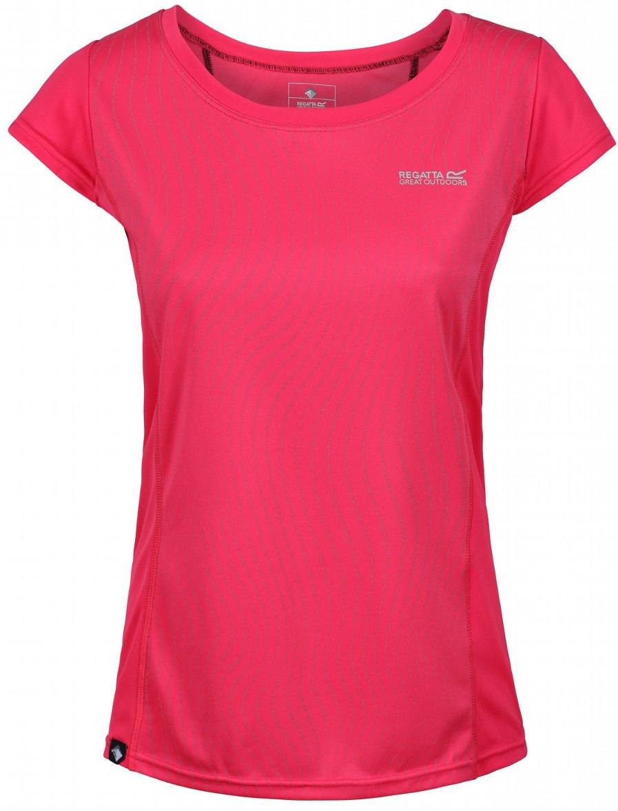 Купить Футболка женская Regatta Wm Hyper-Reflect, цвет: розовый. RWT149-0CX. Размер 10 (42/44)