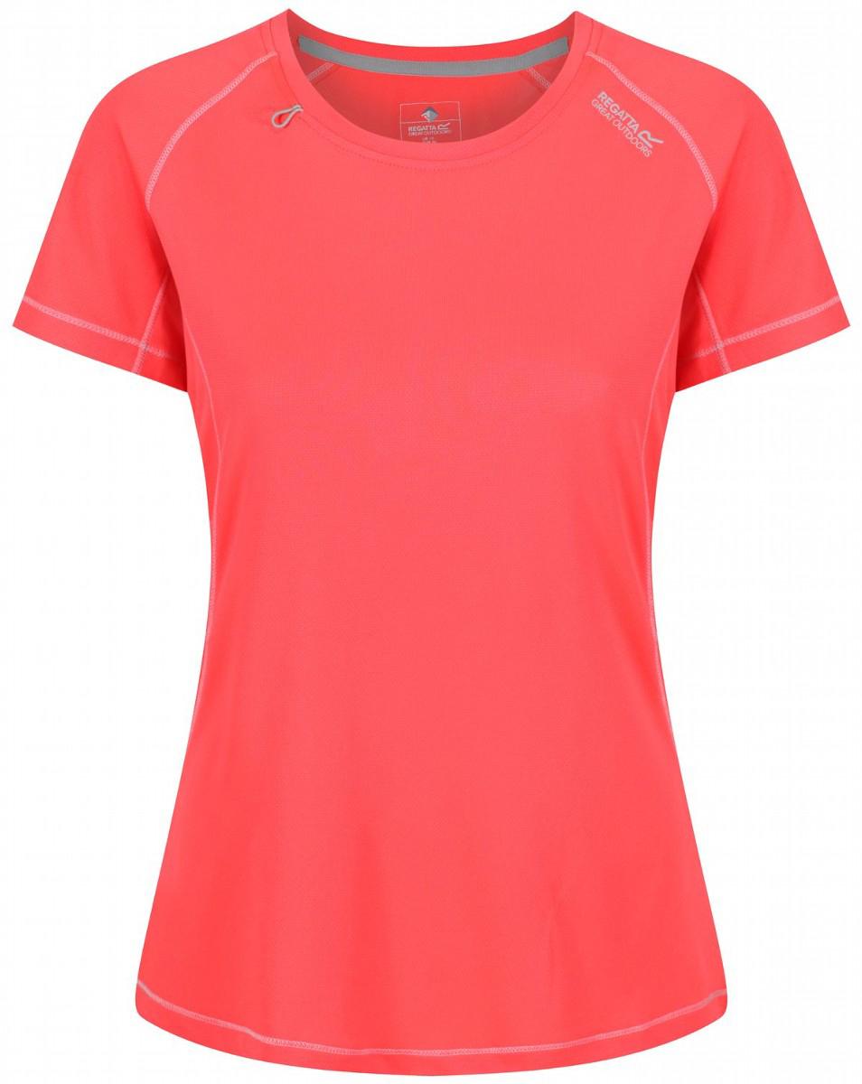 Футболка женская Regatta Wmns Volito II, цвет: коралловый. RWT134-2CC. Размер 16 (48/50) футболка regatta футболка cline
