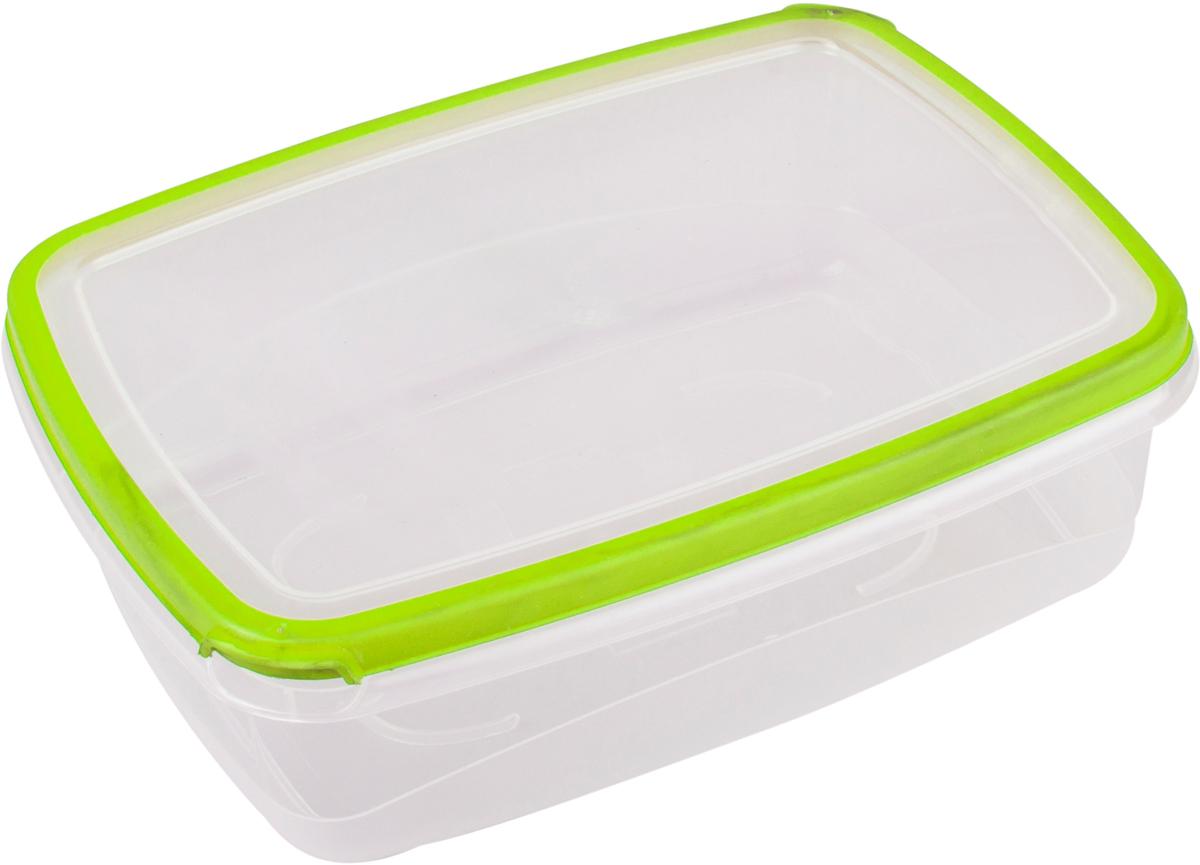 Контейнер пищевой Plast Team Bico, цвет: лайм, с крышкой, 1,3 л