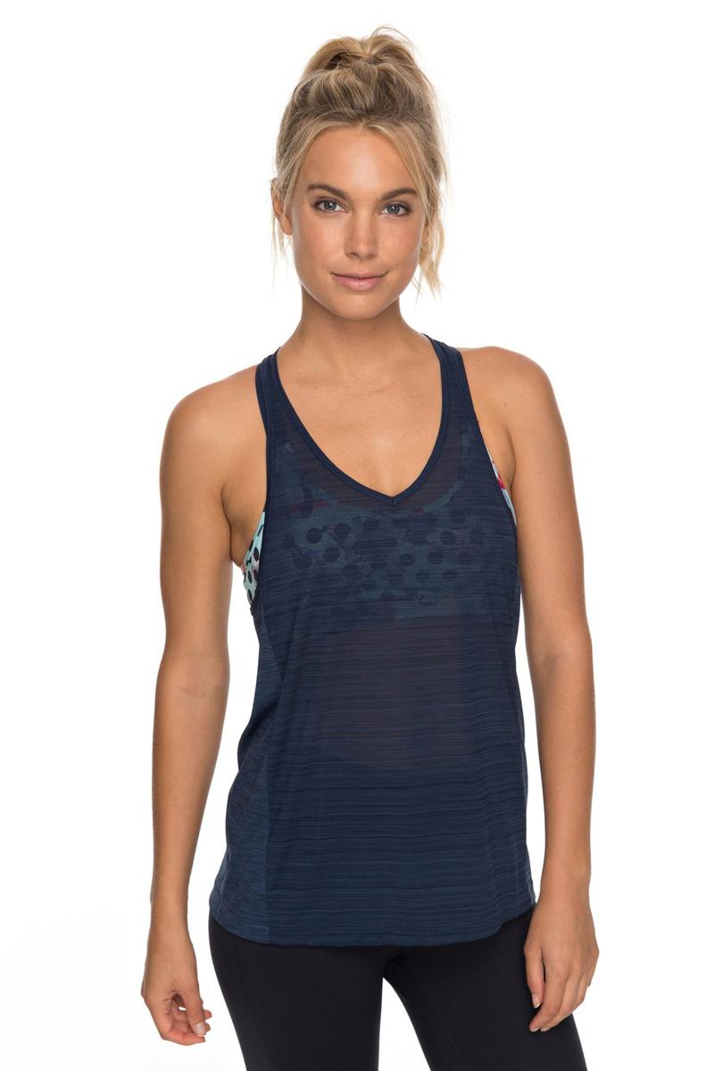 Майка женская Roxy Dakota Dreaming, цвет: темно-синий. ERJKT03389-BTK0. Размер S (42) topshop unique джинсовая верхняя одежда