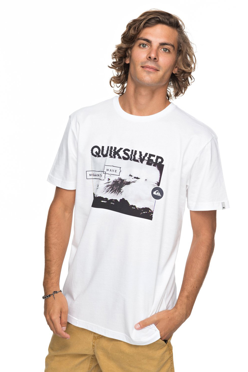 Футболка мужская Quiksilver Classic Black Horizon, цвет: белый. EQYZT04783-WBB0. Размер XXL (54) nema23 geared stepping motor ratio 50 1 planetary gear stepper motor l76mm 3a 1 8nm 4leads for cnc router