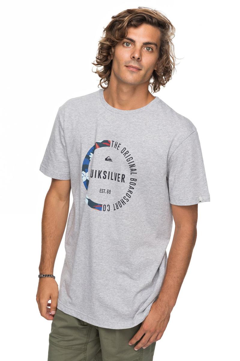 Футболка мужская Quiksilver Classic Revenge, цвет: серый. EQYZT04777-SGRH. Размер  (50)