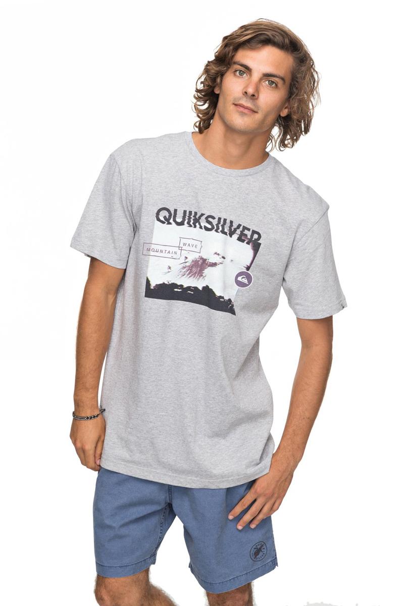 Футболка мужская Quiksilver Classic Black Horizon, цвет: серый. EQYZT04783-SGRH. Размер  (50)