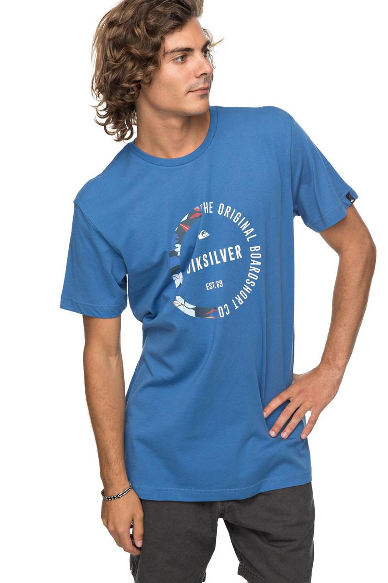 Футболка мужская Quiksilver Classic Revenge, цвет: синий. EQYZT04777-BPC0. Размер XXL (54)