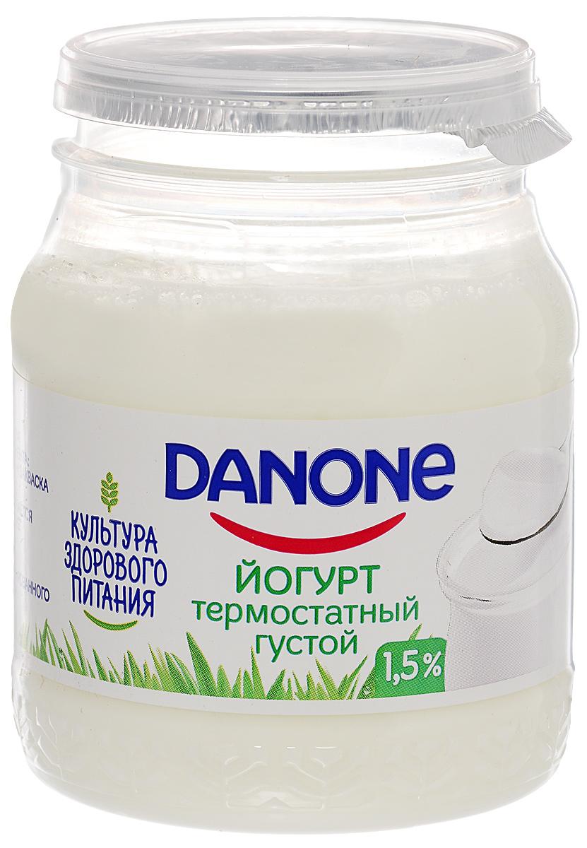 Danone Биойогурт густой термостатный 1,5%, 250 г danone йогурт питьевой черника ежевика 2 1% 270 г