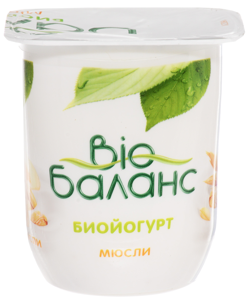 Био-Баланс Биойогурт густой Мюсли 2,8%, 125 г био баланс биойогурт злаки 1 5% 330 г