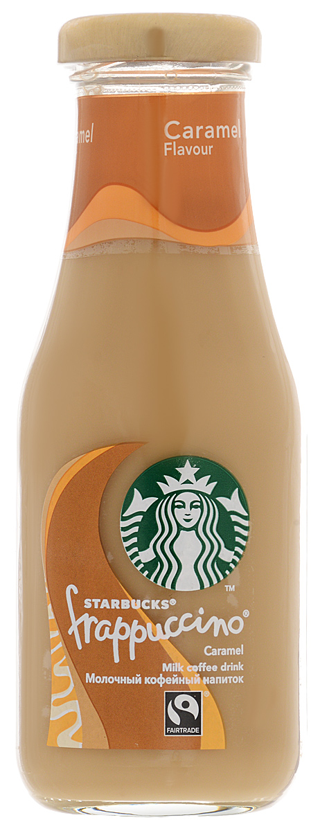 Starbucks Frappuccino Caramel, молочный кофейный напиток, 1,2%, 250 мл starbucks frappuccino mocha молочный кофейный напиток 1 2