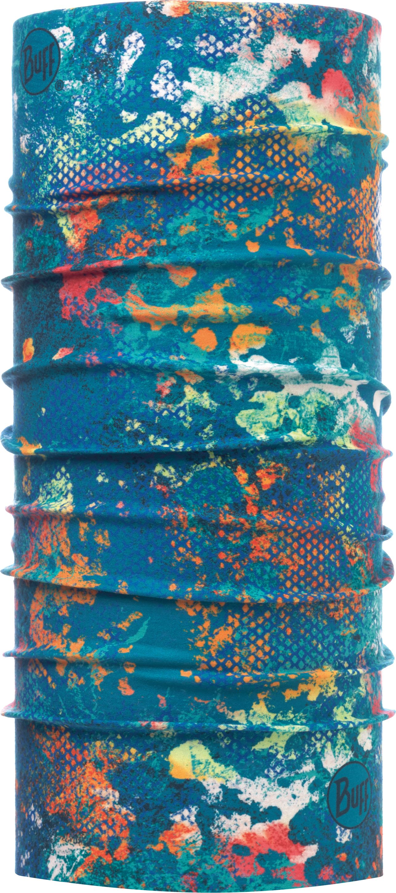 Купить Бандана Buff UV Protection Aquatic Camo Turquoise, цвет: голубой. 117012.789.10.00. Размер универсальный