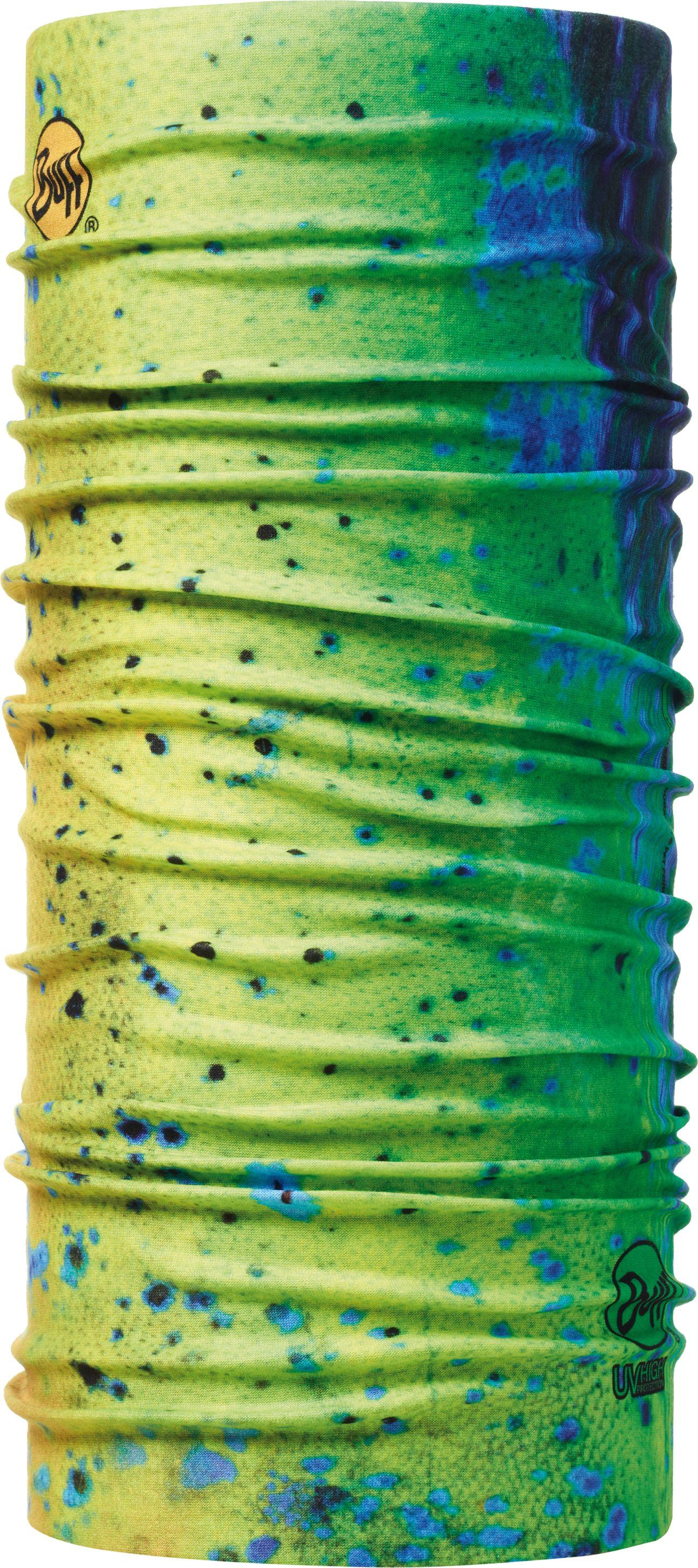 Бандана Buff UV Protection Dorado, цвет: желтый,синий. 100167.00. Размер универсальный100167.00Бандана-труба из серии BUFF UV PROTECTION с высокой степенью защиты от ультрафиолетового излучения. Благодаря материалу Coolmax быстро сохнет и превосходно обеспечивает терморегуляцию. Тонкий, легкий бафф оптимально подходит для занятий летними видами спорта, пляжных игр, бега и пеших прогулок в жаркие дни. Дизайн с рыбами популярен в среде рыбаков и прекрасно подходит для летней рыбалки, чтобы защитить лицо и шею от солнца. Связана по круговой технологии, поэтому не имеет швов. Особенности: превосходная воздухопроницаемость и контроль влажности; легкий вес.Бандана прекрасно держится на голове и не спадает при любой степени активности. Размер (обхват головы): 55-62 см.