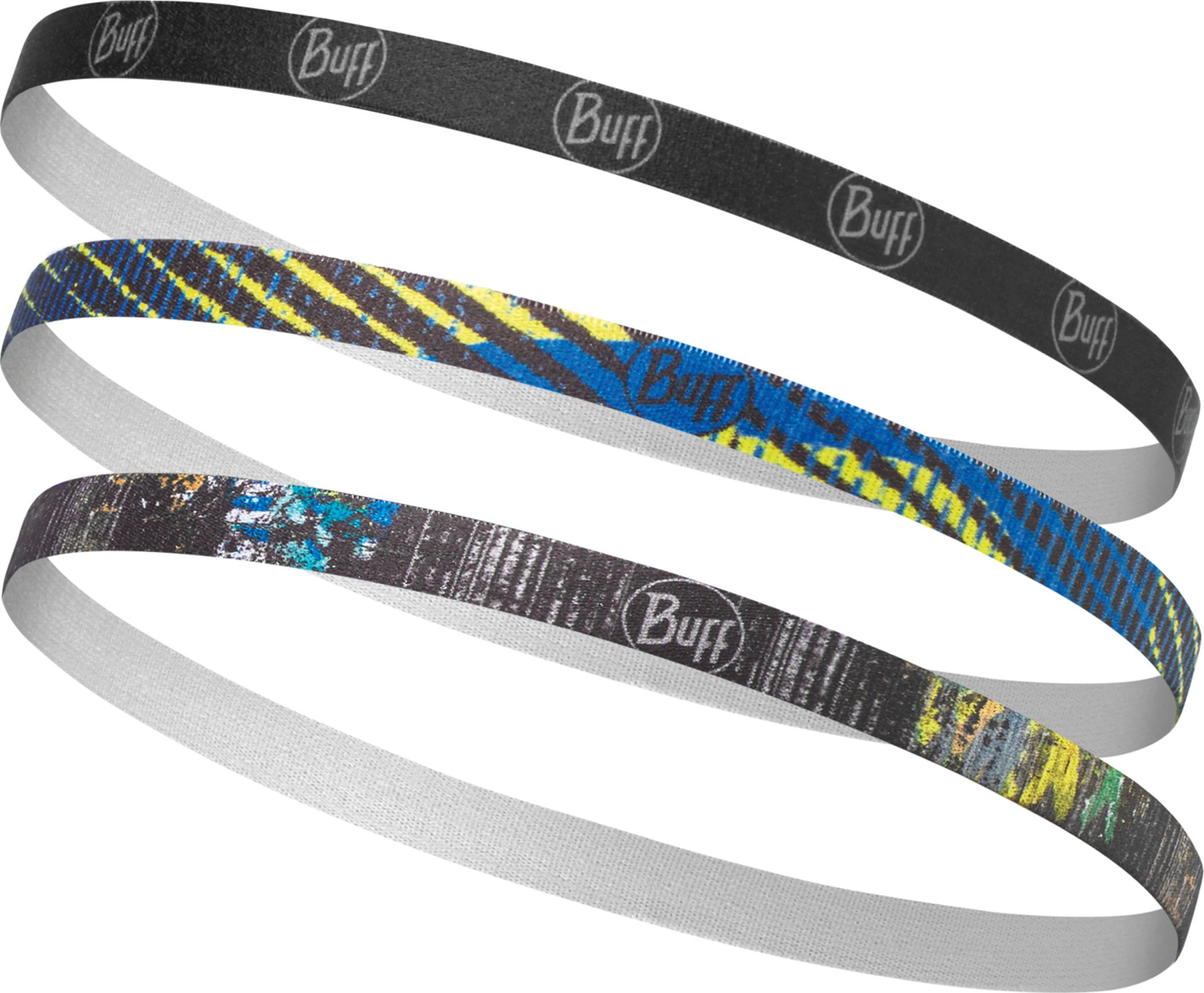 Повязка Buff Hairband Nelo Multi, цвет: разноцветный. 117093.555.10.00117093.555.10.00Эластичный ободок для волос - классический аксессуар. Отличное решение, чтобы убрать волосы от вашего лицаво время занятий спортом.Красивый, удобный и стильный. В упаковке 3 ободка Ободок подойдет к бандане BUFF UV PROTECTION GRAFFITI BLACK идентичной расцветки. Особенности: - в упаковке 3 ободка - прекрасно держится на голове и не спадает при любой степени активности - сертификат OEKO-TEX standart 100:независимая система проверки продукции на всех стадиях производства - толщина: 1 мм - размер:55-62 см (взрослые) - состав: 78% Полиэстер, 14% Латекс,8% силикона. - вес:5 г.