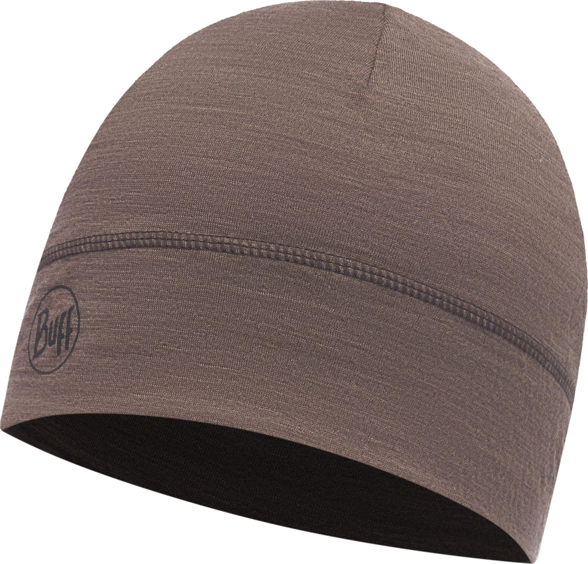 Купить Шапка Buff Lightweight Merino Wool 1 Layer Hat Solid Walnut Brown, цвет: коричневый. 117065.327.10.00. Размер универсальный