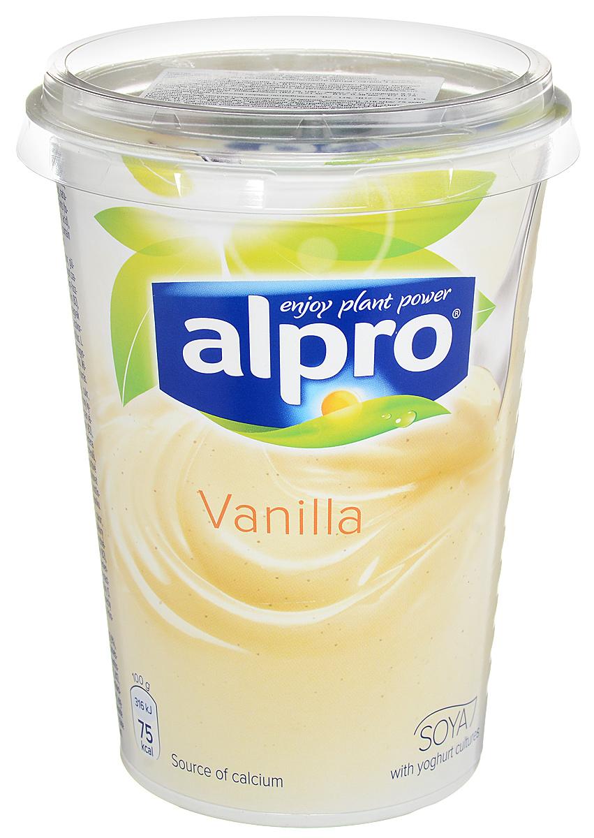 Alpro Йогурт Ванильный соевый, обогащенный кальцием и витаминами, 500 г брюссельская капуста 500 г