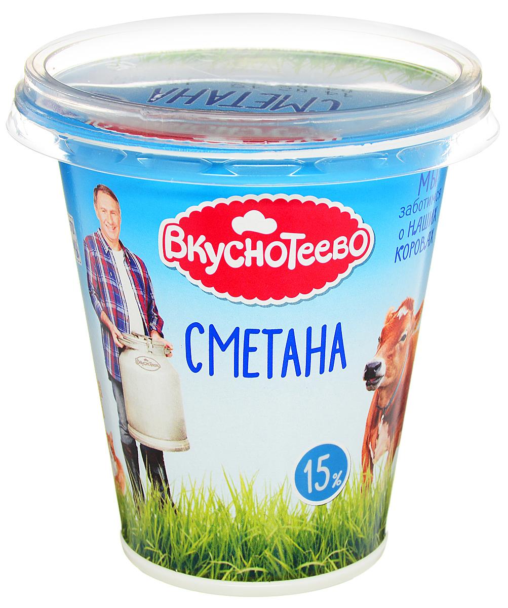 Вкуснотеево Сметана 15%, 300 г вкуснотеево кефир 1