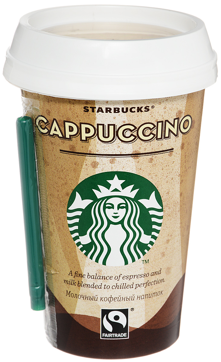 Starbucks Cappuccino, молочный кофейный напиток, 2,5%, 220 мл starbucks frappuccino mocha молочный кофейный напиток 1 2