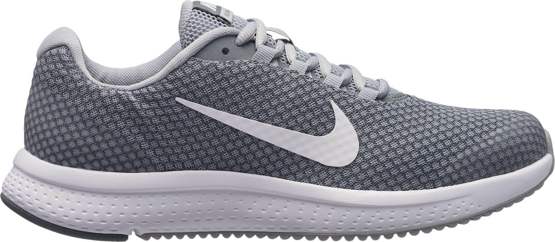 Кроссовки для бега женские Nike Run All Day, цвет: серый. 898484-016. Размер 6,5 (36,5)898484-016Женские беговые кроссовки Run All Day от Nike обеспечивают амортизацию и комфорт на любой дистанции. Система шнуровки в средней части стопы надежно фиксирует стопу, а подметка из мягкой резины и подошва из материала Phylon обеспечивают адаптивную амортизацию. Мягкий бортик обеспечивает дополнительный комфорт. Инжектированная подошва из материала Phylon для адаптивной амортизации. Сетка верха Engineered Mesh обеспечивает вентиляцию и поддержку в ключевых зонах. Вафельная подметка из мягкой резины для надежного сцепления с различными поверхностями.