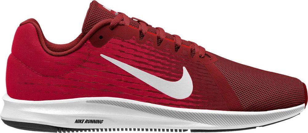 Кроссовки для бега мужские Nike Downshifter 8, цвет: красный. 908984-601. Размер 11 (44)908984-601Мужские беговые кроссовки Downshifter 8 от Nike в минималистичном стиле выполнены из легкой однослойной сетки с обновленной амортизирующей стелькой, еще более мягкой, чем в предыдущих версиях. В сочетании с ремешком в области свода стопы, объединенным со шнурками, это обеспечивает индивидуальную посадку и плавный переход с пятки на носок. Верх из легкой сетки обеспечивает вентиляцию и комфорт. Регулируемый ремешок в области свода стопы обеспечивает индивидуальную посадку. Обновленная промежуточная подошва для мягкой и упругой амортизации. Рельефная конструкция внутренней части для безупречной посадки и удобного обувания. Эластичная полноразмерная подошва из материала Phylon обеспечивает упругую и легкую амортизацию, ее обновленная версия превосходит предшествующие по мягкости. Перепад: 10 мм (носок 13 мм, пятка 23 мм). Колодка: MR-10.