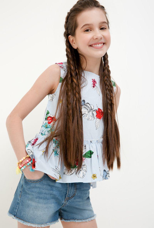 Блузка для девочки Acoola Morpho, цвет: разноцветный. 20210270032_8000. Размер 164