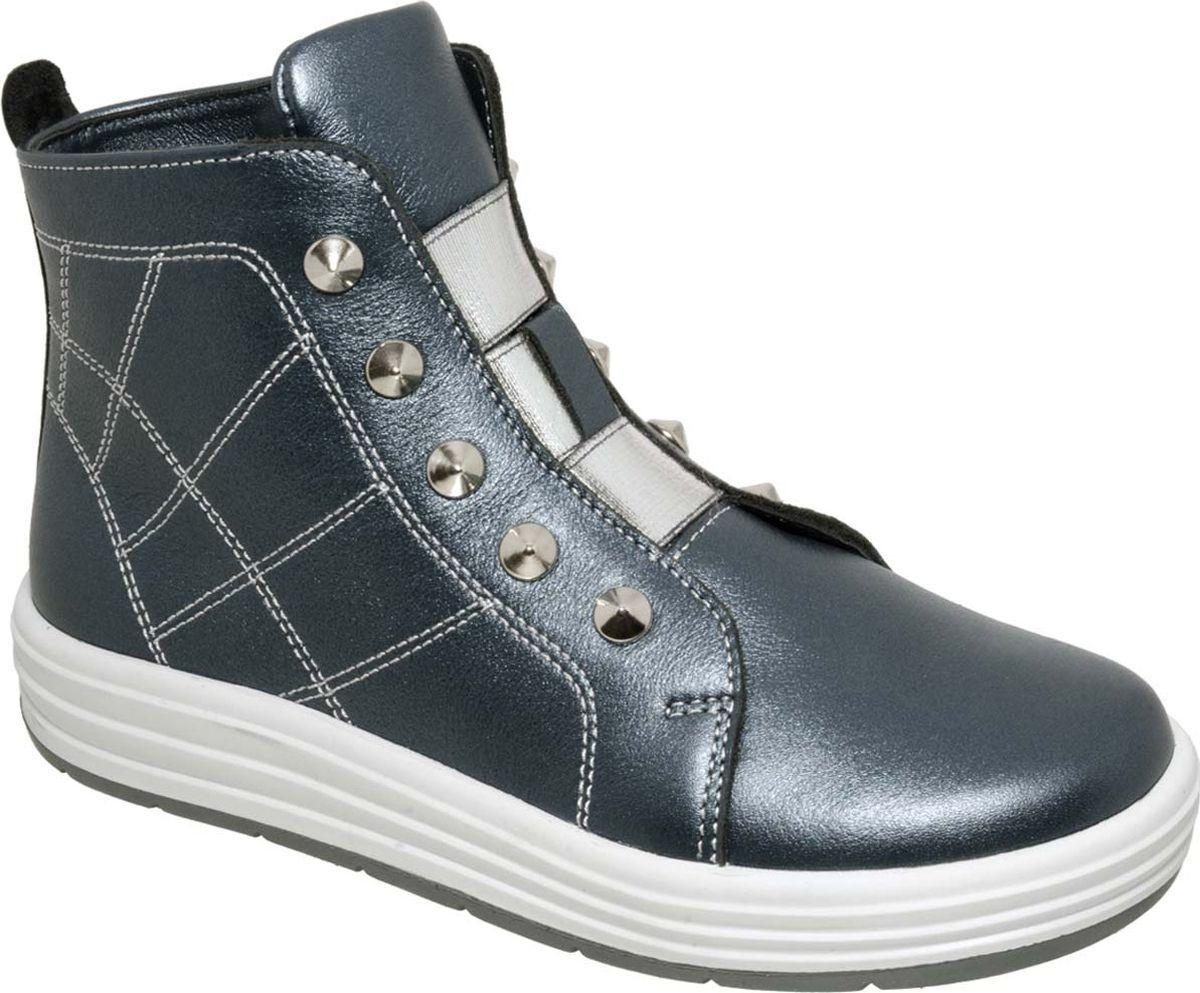 Ботинки для девочки Лель, цвет: синий. 3-1214. Размер 323-1214Ботинки для девочки Лель выполнены из натуральной кожи. Модель на ноге фиксируется при помощи застежки-молнии, которая позволяет быстро надевать и снимать обувь. Гибкая и легкая подошва, выполненная из ТЭП-материала, долговечна и обеспечивает высокую устойчивость к деформациям.