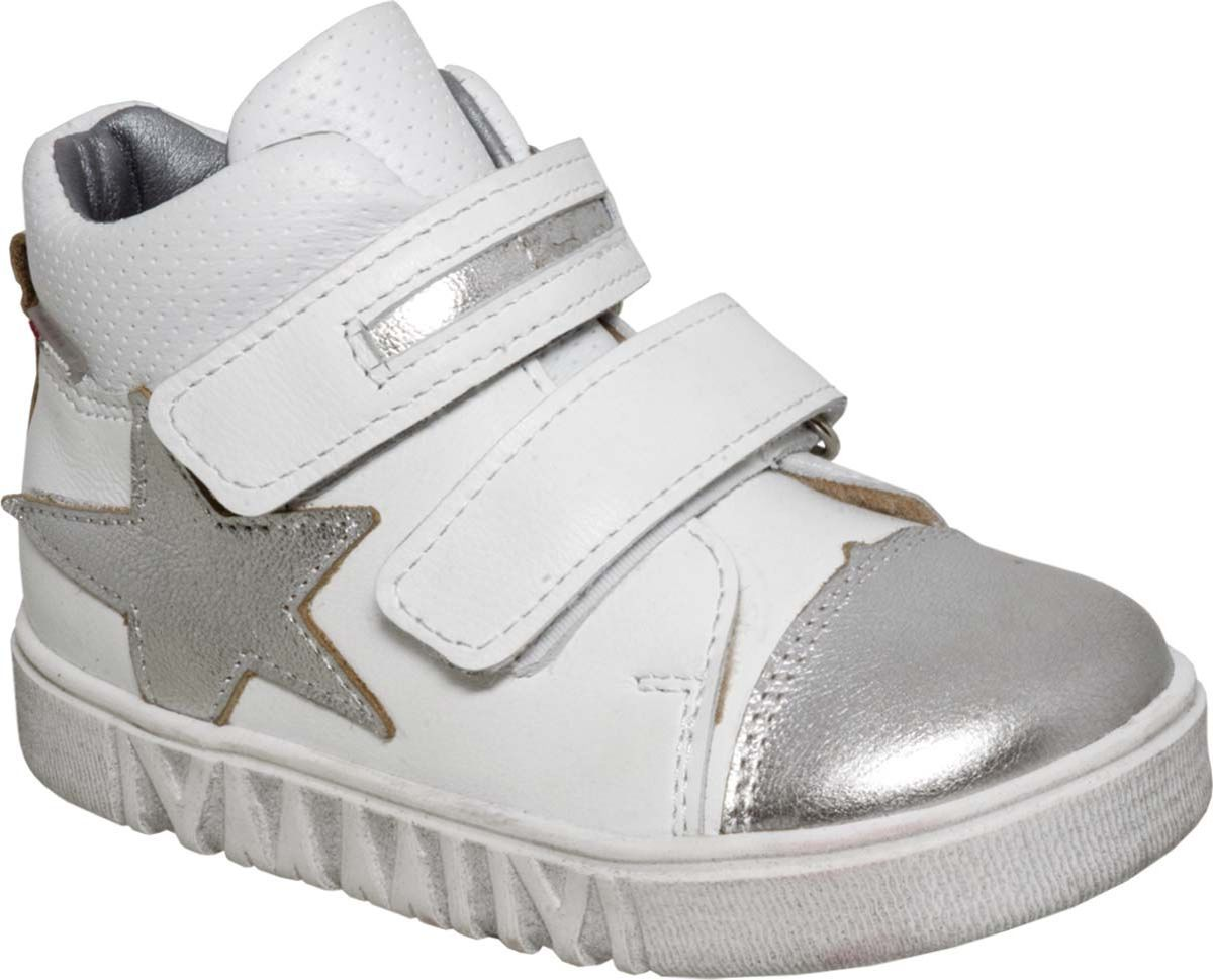 Ботинки для девочки Лель, цвет: белый. 3-1254. Размер 263-1254Детские ботинки от Лель выполнены из натуральной кожи. Модель на ноге фиксируется при помощи двух ремешков на липучках, которые позволяют быстро надевать и снимать обувь. Гибкая и легкая подошва, выполненная из ТЭП-материала, долговечна и обеспечивает высокую устойчивость к деформациям.