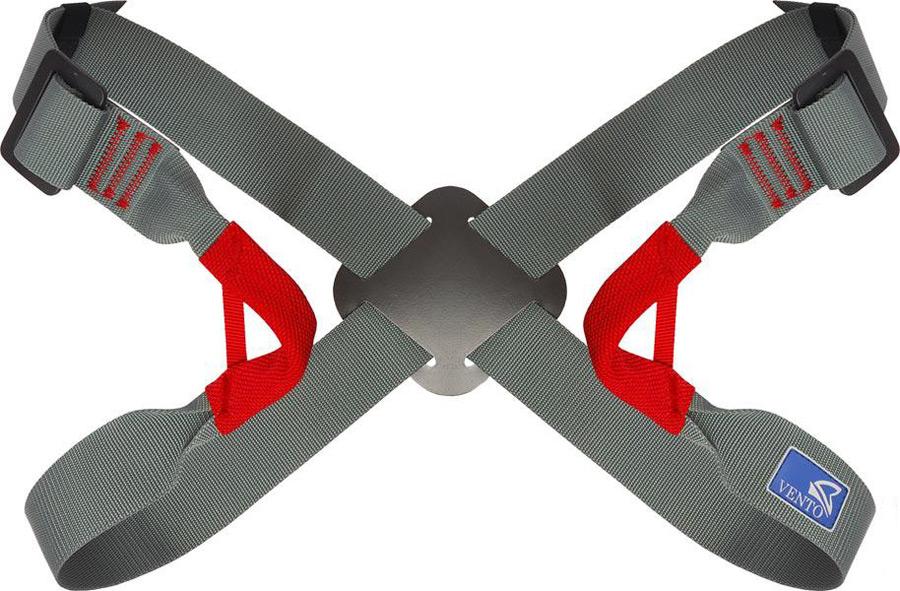 Система страховочная Vento Бабочка, грудная, регулируемая, цвет: серый, размер Mvnt 003Грудная обвязка «Бабочка регулируемая» используется только в сочетании с поясной беседкой! Удобна для использования в веревочных парках, а также при занятиях альпинизмом, горным туризмом. Перекрестие на спине позволяет отрегулировать положение ремней. Размер обвязки регулируется с помощью двух дюралевые пряжек. Подходит для пользователей разных размеров.Характеристики:Масса, г: 206Обхват груди, см: 22-104