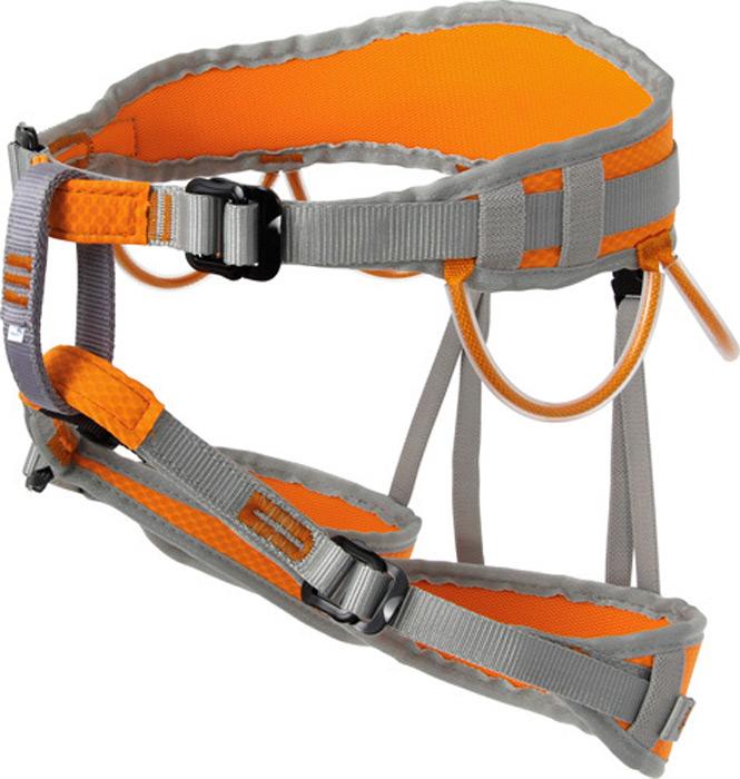 Система страховочная Vento Маугли, цвет: оранжевый, размер XSvnt 107Альпинистская беседка «Маугли» предназначена для юных спортсменов, занимающихся скалолазанием. Это полностью регулируемая обвязка, сшитая по технологии «силового каркаса», что позволяет распределить нагрузку на всю площадь пояса и ножных обхватов. Правильное положение страховочного кольца обеспечивается двумя пряжками дуплекс. Конструкция включает 4 петли для развески снаряжения.Характеристики:Масса: 340 г Обхват пояса: 56 – 98 смОбхват ног: 30 – 52 см
